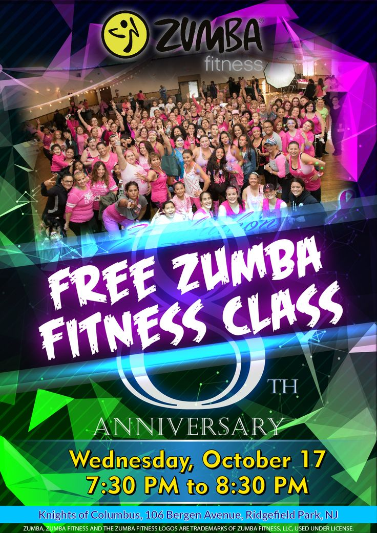 Save the date! Free Zumba Fitness Party on Wednesday