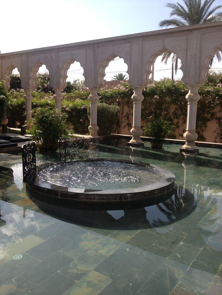 Palais Namaskar #morocco private Jacuzzi #travel #architecture #marrakech #jacuzzi
