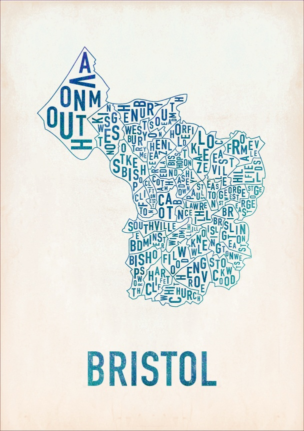 Map of #Bristol. By Ronan Haughey. Very cool!
