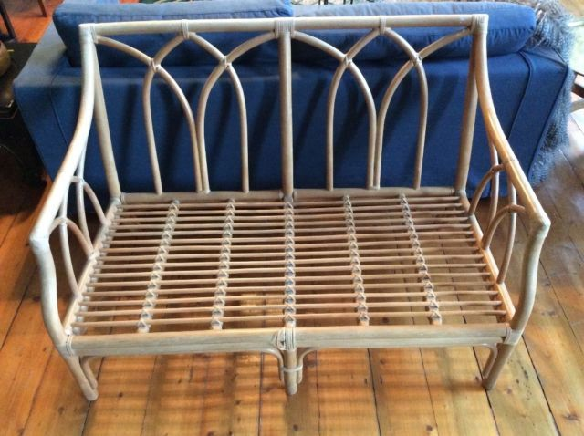 Vintage cane bench, two seater sofa, love seat   Edinburgh   Gumtree