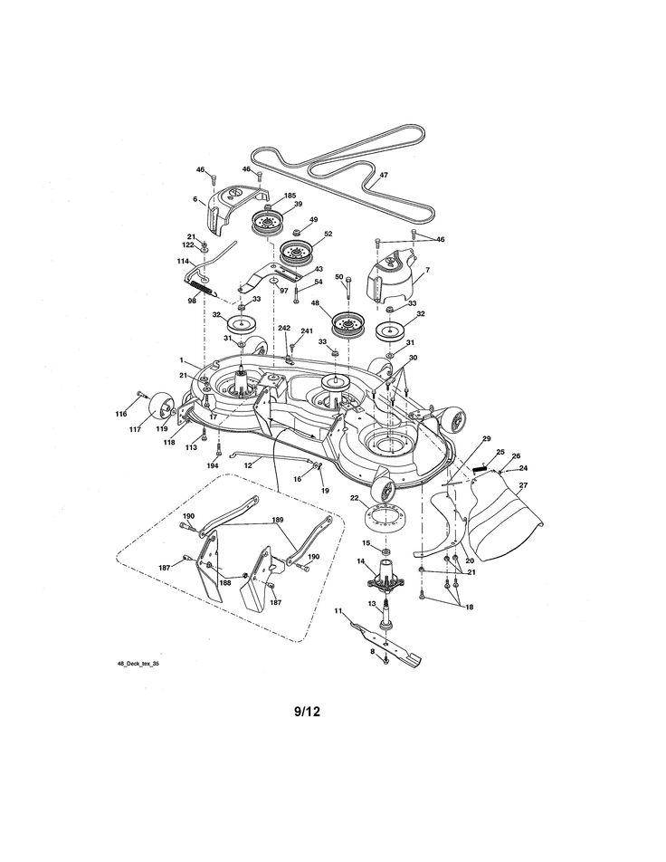 mower deck diagram  u0026 parts list for model 917289720