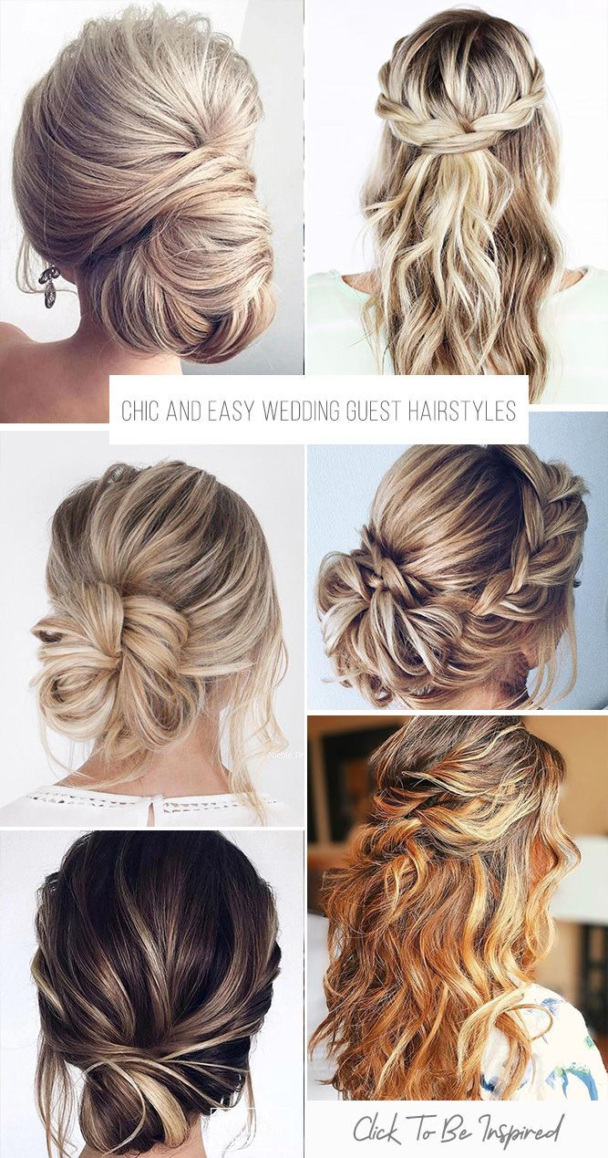 36 chic and easy wedding guest hairstyles   wedding