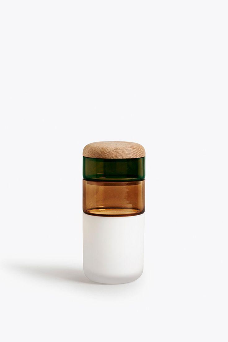 New Works | PI-NO-PI-NO Vase | White, Bronze Green incl. Lid