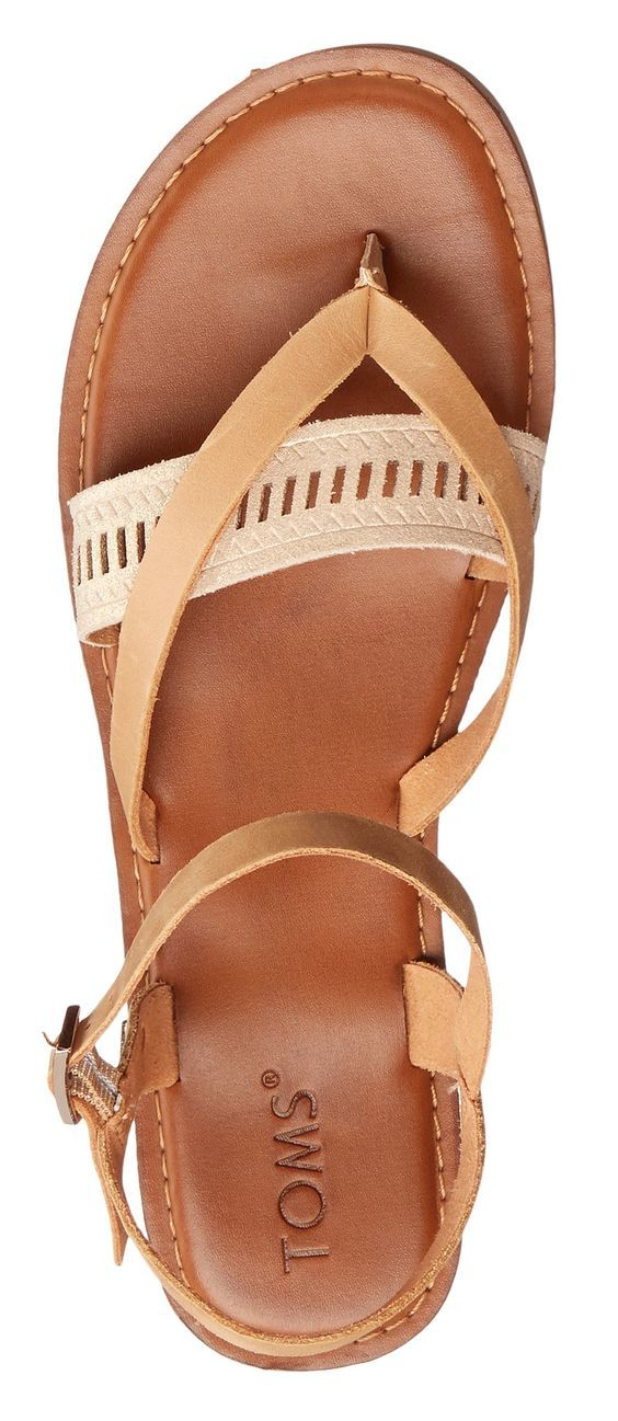 Tom's Lexie sandal in brown/nude. A cushy footbed brings comfort to a chic summer sandal accented with a fun, two-tone woven strap.  Also available in black, taupe, orange, grey and white. Nordstrom. 2018 Fashion trends. perfect for Spring & Summer #affiliatelink