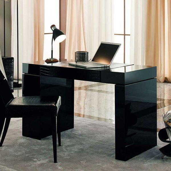 schreibtischstühle designs schwarz elegant