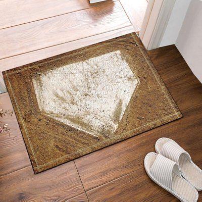 Home Plate Baseball Bathroom Shower Room Mat Bath Non Slip 40x60