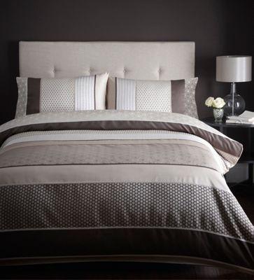 Chocolate 'Sophia' bed linen at debenhams.com