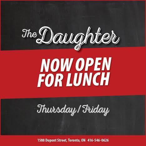 Now serving lunch Thursdays & Fridays