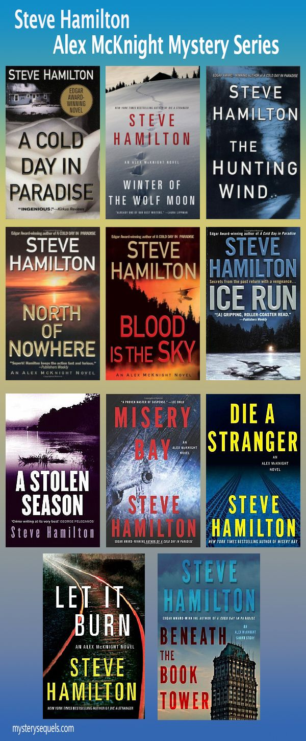 Steve Hamilton  Alex Mcknight Mystery Book Series In Order Of Publication