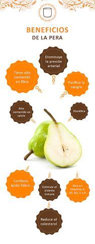 La pera además una fruta deliciosa, tiene muchos beneficios para tu slaud. ¡Conócelos!