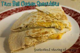 Taco Bell Chicken Quesadilla (Copycat) - because homemade is better! #copycat