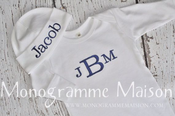 Baby Boy Coming Home Outfit Newborn Boy by MonogrammeMaison