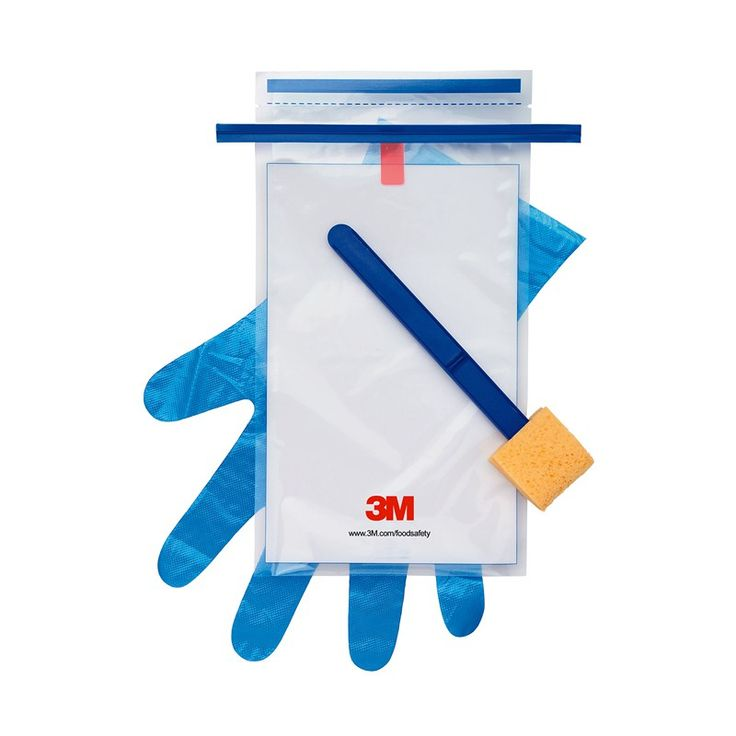The 3M™ Dry Sponge is used widely by the food industry for collection of environmental samples as well as for HACCP carcass sampling.