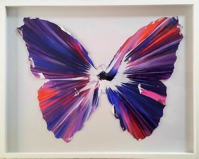 "Damien Hirst | ""Butterfly"", Spin Painting (2009) 