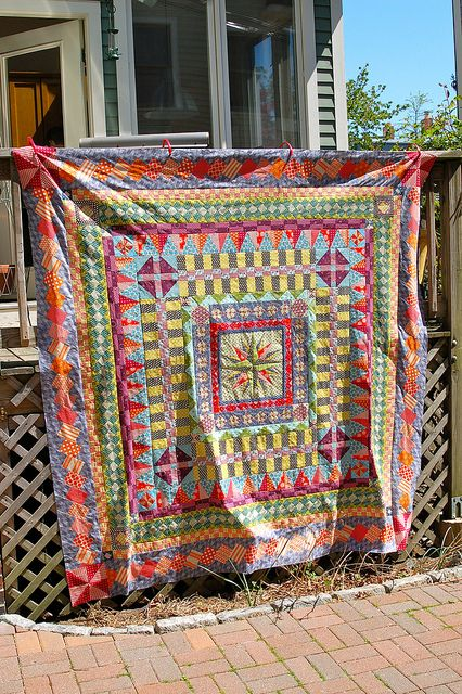 Medallion Quilt top by drury girl, via Flickr