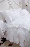Image detail for -silk cotton jacquard denim bedding white lace bedding palace