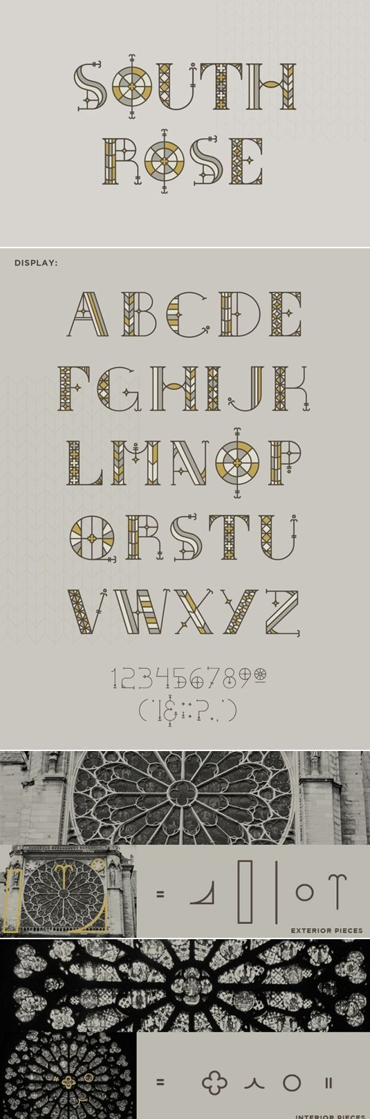 I love how they created this font from motifs within this decorative window design