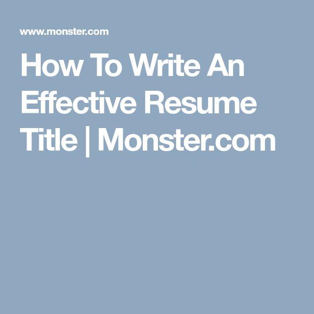 Resume headline for me