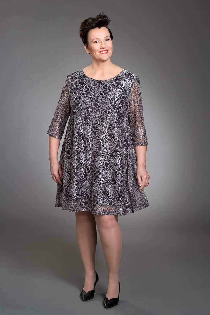Jennifer Lace Tunic Grey Photo: Eveliina Immonen / Studio Liisa Model: Raisa Leinonen