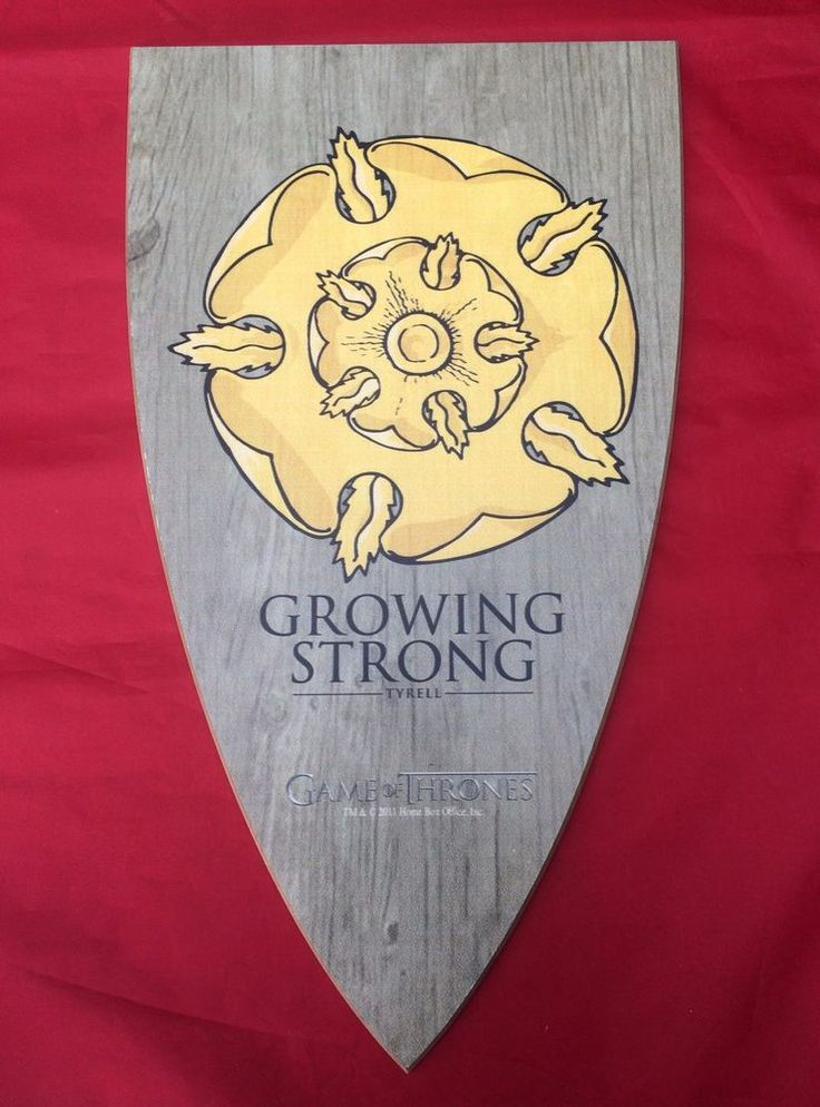"#GameOfThrones #HouseTyrell #Tyrell  Sigil ""Growing Strong"" Wood #Shield Wall #Plaque #HBO #GoT"