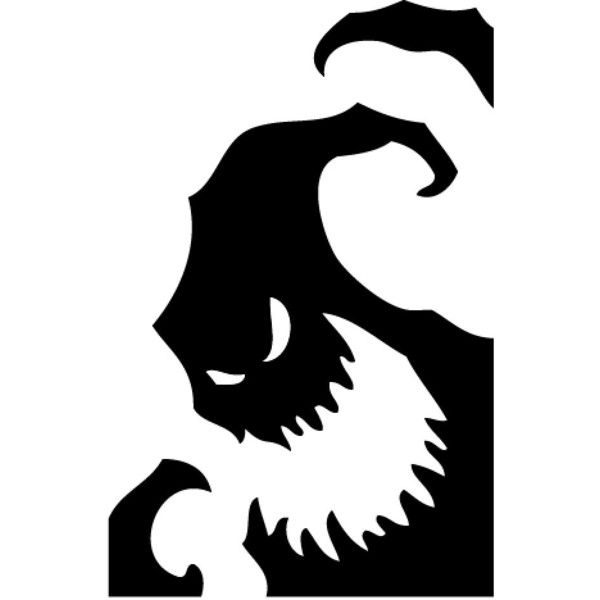 Oogie Boogie, Nightmare Before Christmas Window Decal, Halloween... ($15) ❤ liked on Polyvore featuring home, home decor, holiday decorations, window decal stickers, disney window decals, black and white home decor, window decals and halloween window clings