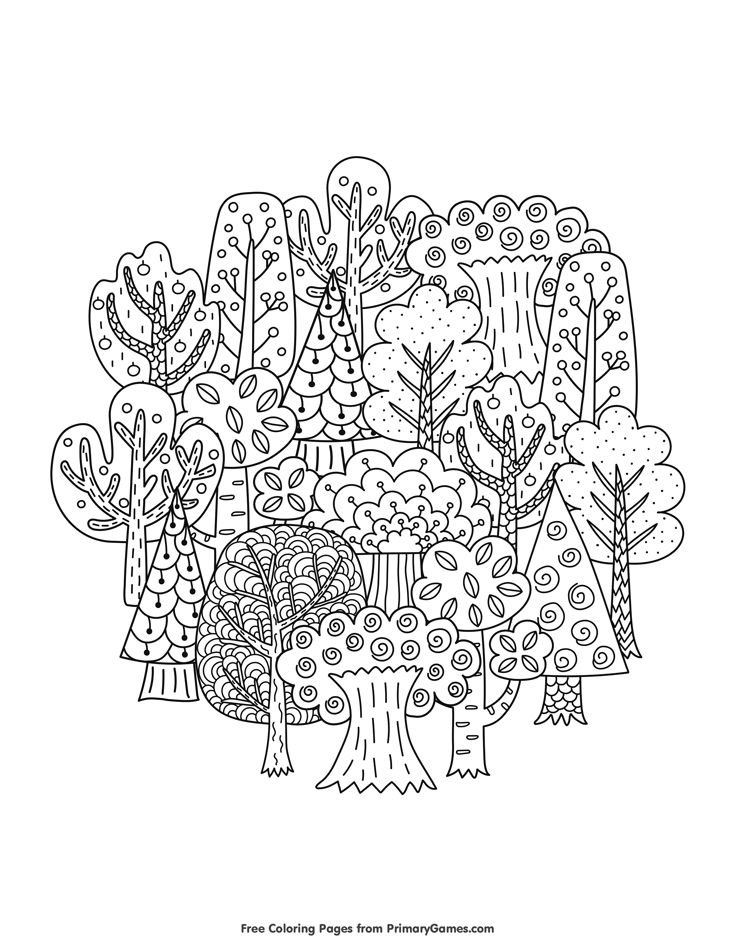 fall coloring page fall trees fall coloring pagesfall treesfree printable