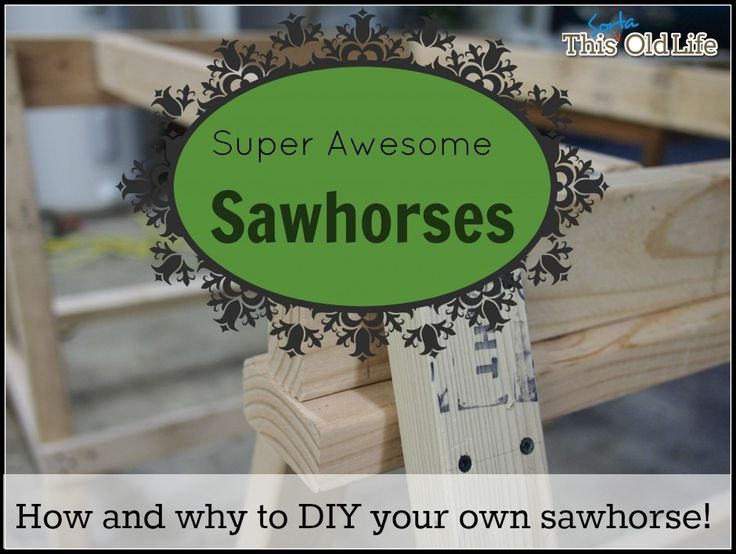 Why you must absolutely run out and build a sawhorse right this minute!