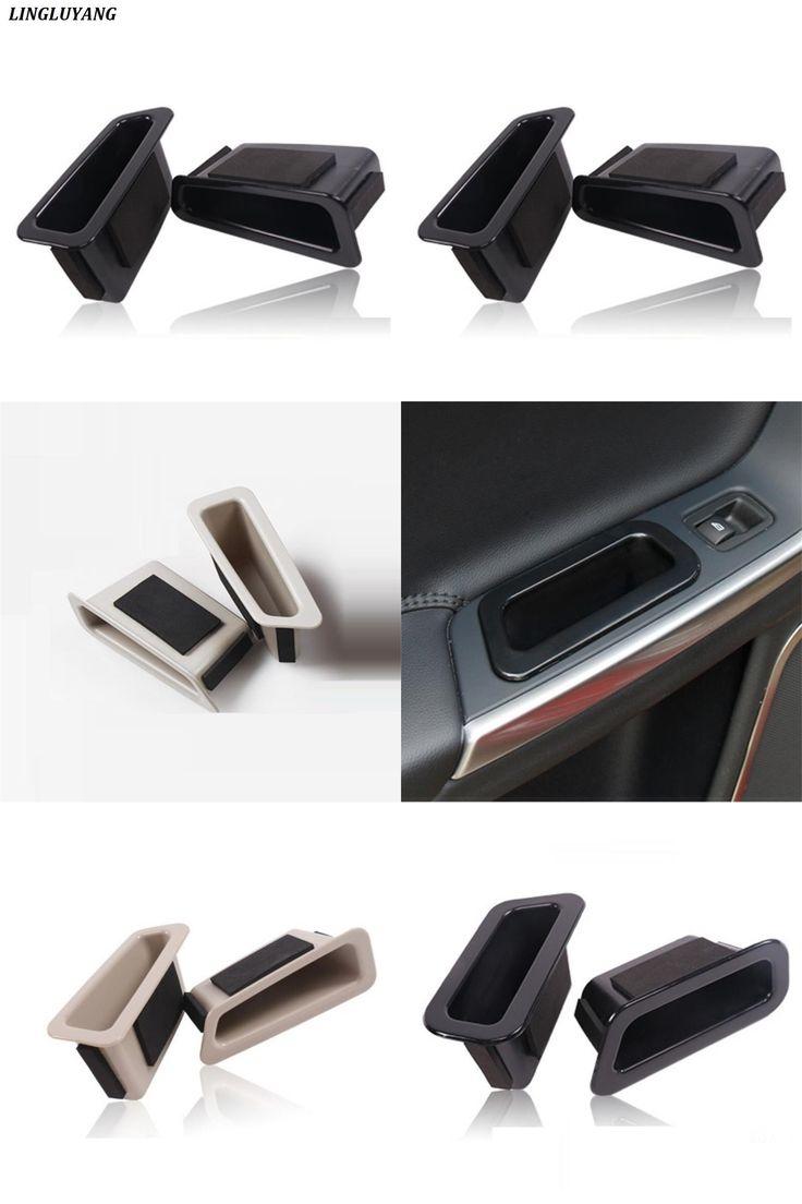 [Visit to Buy]  Car Styling for Volvo xc60 storage box s60 v60 door handle Armrest box beige/black Front door+back door Finishing box 2010-2017 #Advertisement