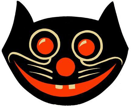 Black Cat Halloween designDiecut Dancers, 1940 Black, Halloween Design, Black Cats, Hallows Eve, Cat Diecut, Vintage Halloween Decorations, Halloween Fal, Cat Halloween