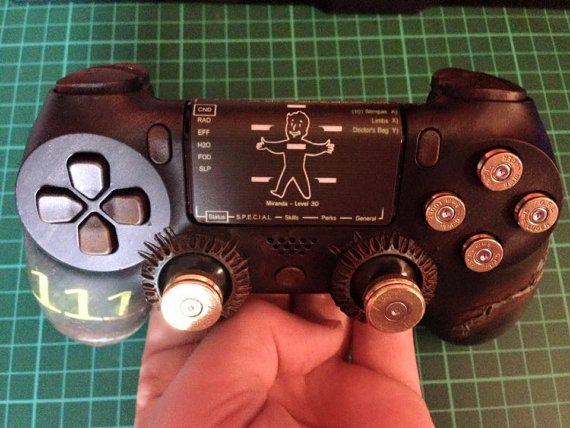 Custom 'Fallout Vault' inspired PS4 by NebulaCustomGaming on Etsy