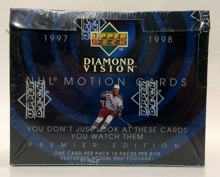 Ice Hockey Cards 216: 1997 Upper Deck Diamond Visions Hockey Card Box 16 Packs Factory Sealed -> BUY IT NOW ONLY: $79.99 on eBay!