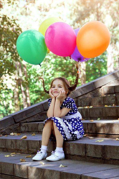 an idea for a photo shoot with balloons