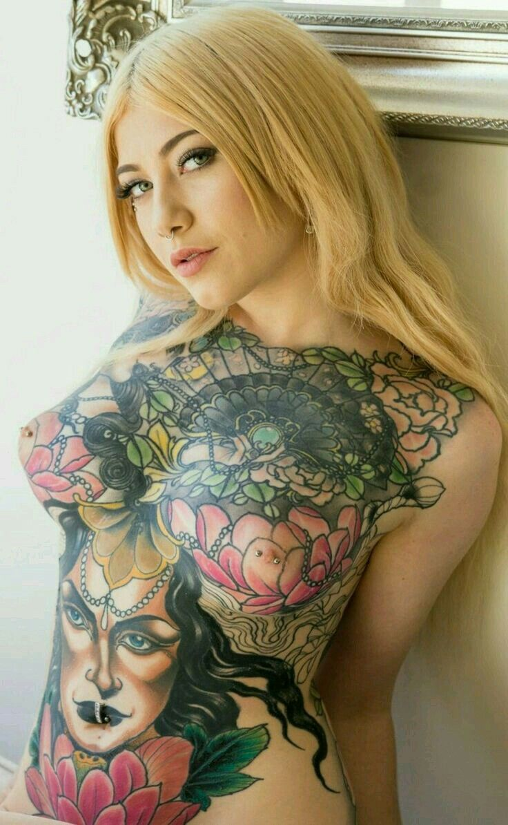 female tattoos with boob