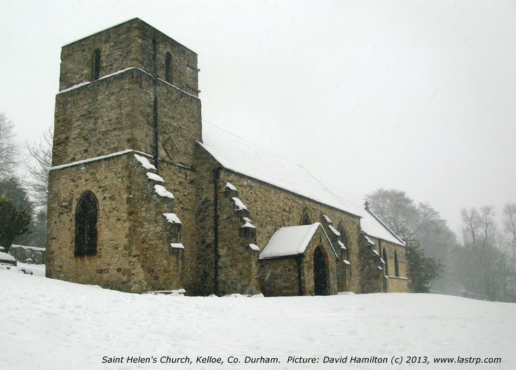 Saint Helen's Church, Kelloe with a dusting of snow.  Would this make a suitable Christmas card?  I would welcome your comments.