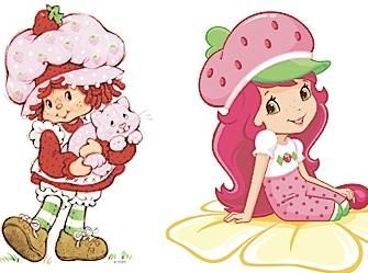 """7 80s Characters From My Childhood Then And Now – What Happened?   Strawberry has traded her Amish style """"I churn my own butter"""" bonnet for a French beret, silky locks, and a svelte figure. I don't know if Custard would recognize her."""