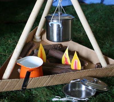 camping for dramatic play