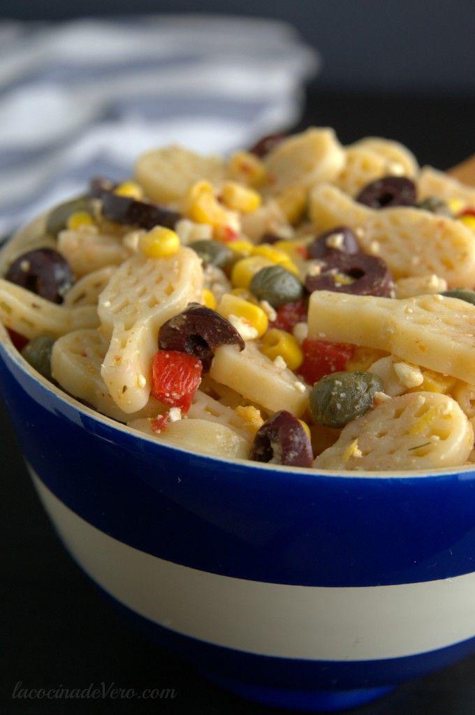 Ensalada de pastas #verano #recetasfaciles #vegetariano