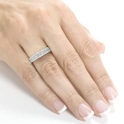 Annello 14k White Gold 1/2ctTDW Diamond Anniversary Band (H-I, I1-I2) | Overstock.com Shopping - Top Rated Annello Diamond Rings