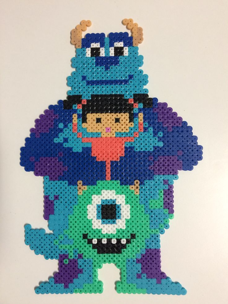 Hama Monsters Inc. By Miidita                                                                                                                                                                                 More