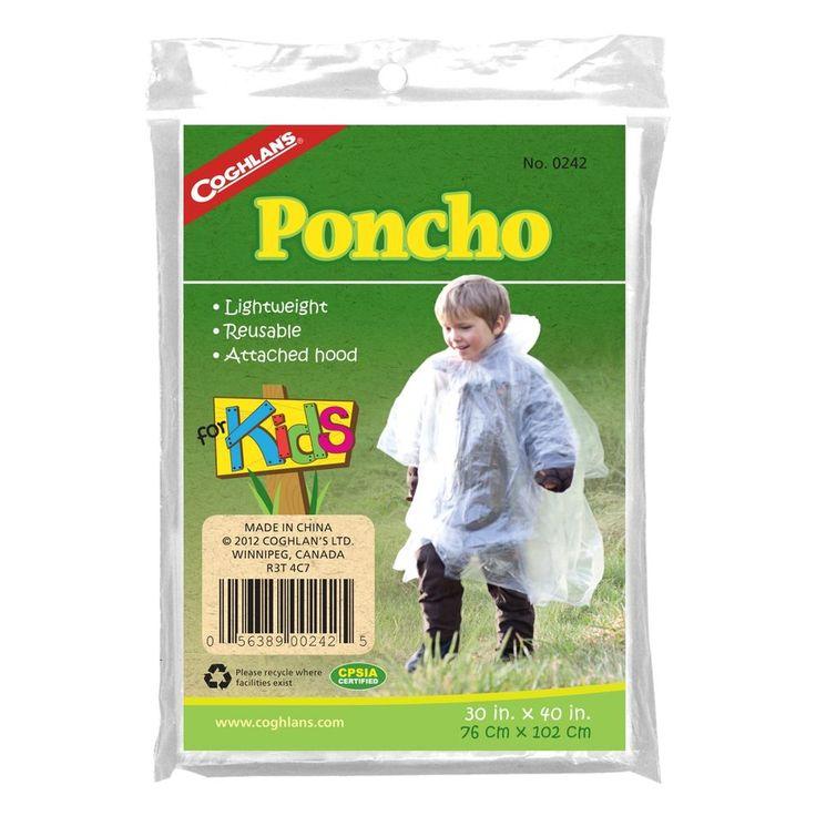 Coghlans 0242, Kids' Poncho - Clear #Poncho