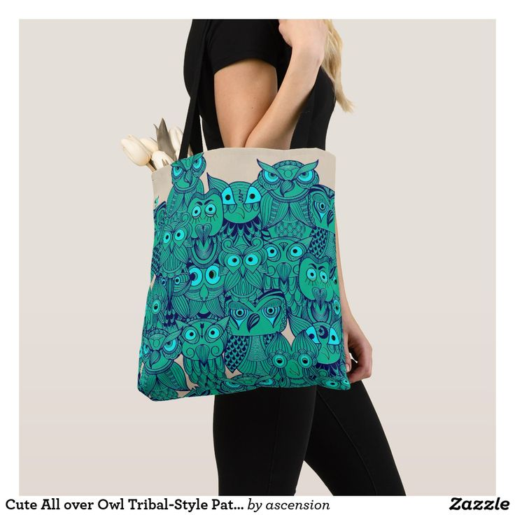 Cute All over Owl Tribal-Style Pattern Tote Bag