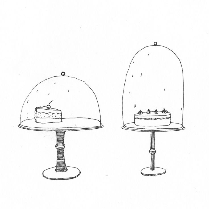 cakes illustration. These are very similar to some of our original logo ideas! Spookily similar!