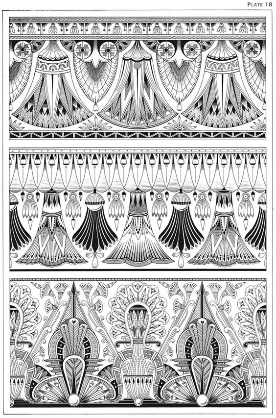 Egyptian Motifs In The Art Deco Style Art Deco Tattoo