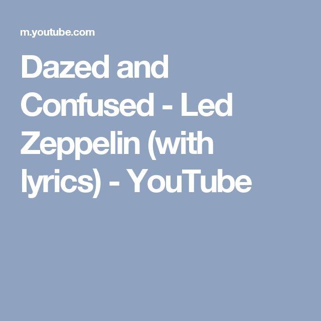 Dazed and Confused - Led Zeppelin (with lyrics) - YouTube
