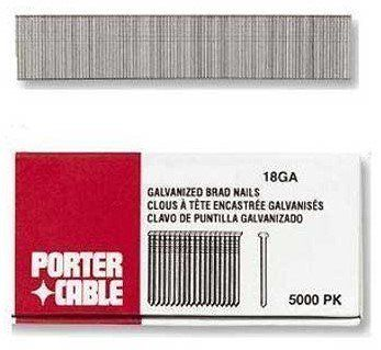 """Brad Nails - 1"""" 18ga. brad nail5000/box by Porter-Cable. $9.09. 593-BN18100 Features: -Packing Type: Stick.-Quantity: 5000 per package.-Type: Brad Nail.-Wire Size: 0.0480 in, 18 gauge."""