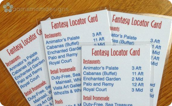 Disney Fantasy Ship Locator Bookmark Digital by aamsmomdesigns