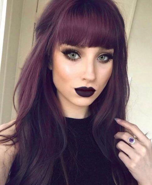 45 Superb lange Haare mit Pony Empfehlungen #haircolor #hairstyle #haarfarbe #frisuren