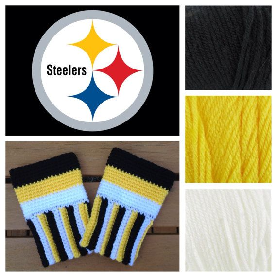 Pittsburgh Steelers boot cuffs football crochet by KnotableKnits