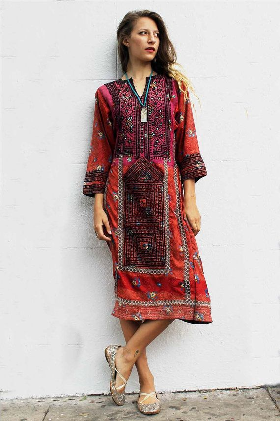 Red and Pink Afghani dress