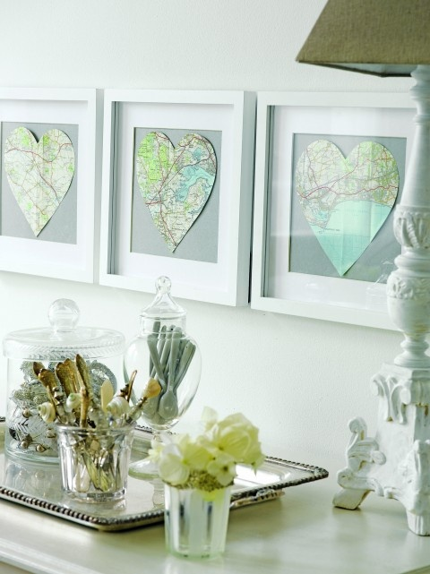 Buy a vintage map (or just print a map from Google!) then frame the place where you first met…or the town you got married in…or the resort where you spent your honeymoon…or the last place you had a row…
